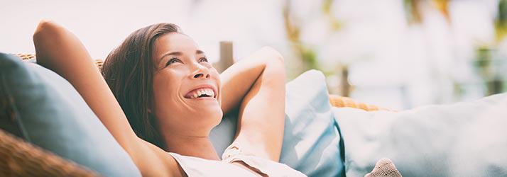 Audiology Waukesha WI Relaxed Lady